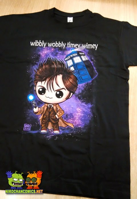 Camiseta 10th Dr. Who versión kawaii