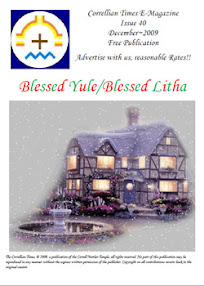 Cover of Correllian Times Emagazine's Book Issue 40 DECEMBER 2009 Blessed Yule Blessed Litha