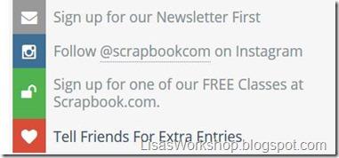 Scrapbook.com giveaway