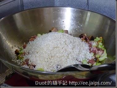 簡易版上海菜飯-炒米