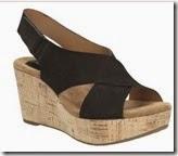 Clarks black suede strappy sandal