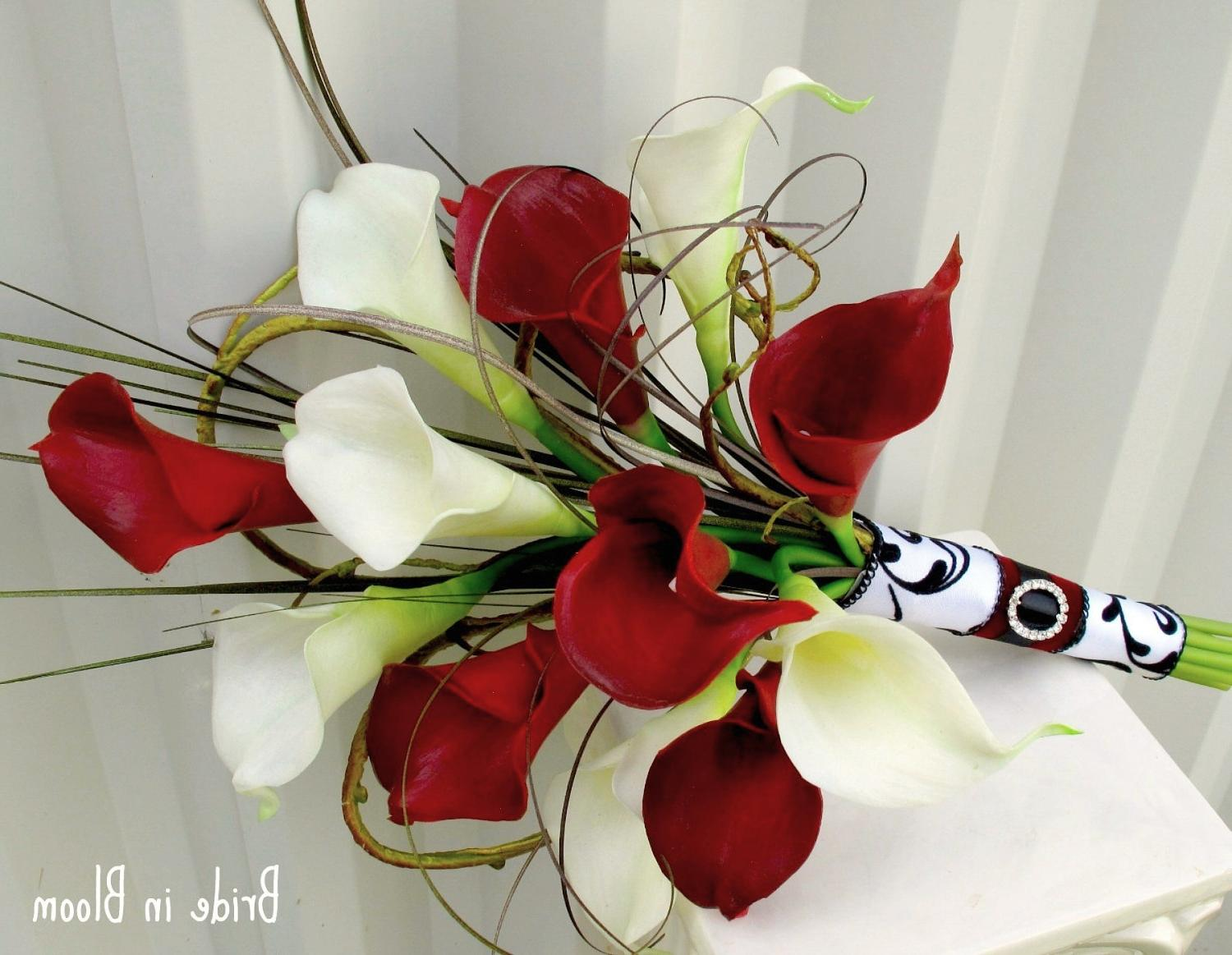 Wedding Bouquet real touch red