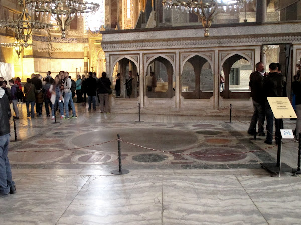 Hagia Sophia Byzantine Emperor Coronation Spot