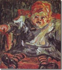ERICH HECKEL-XX-Seated child