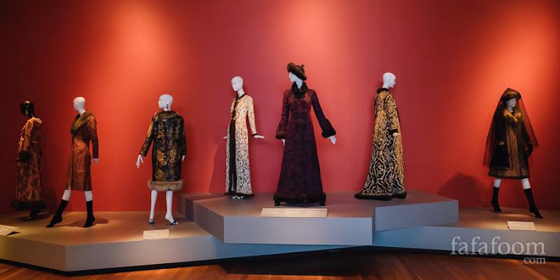 """Russian Influence"" Showcase of Oscar de la Renta: The Retrospective exhibition at de Young Museum, San Francisco."