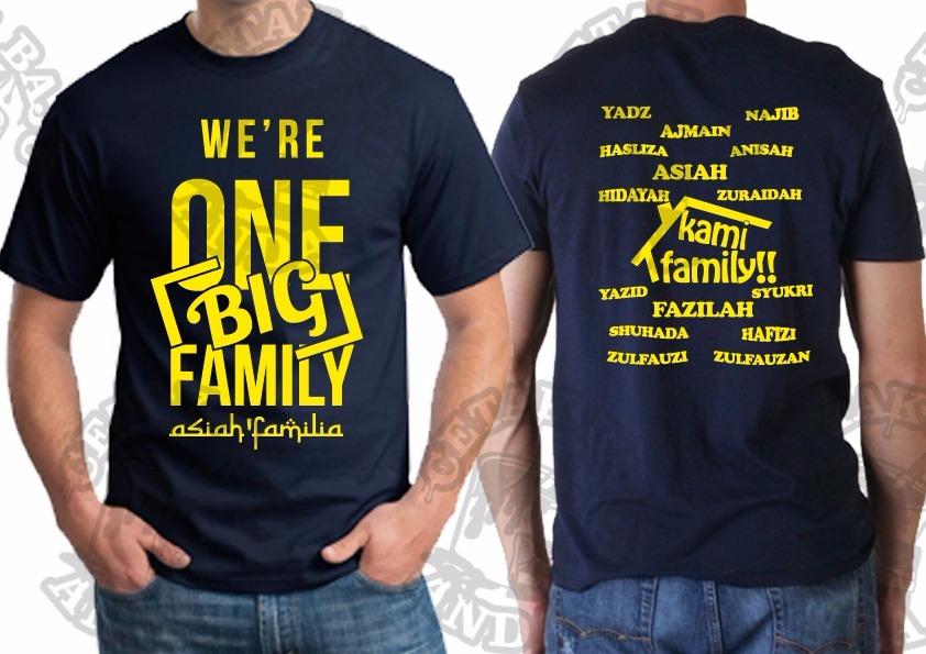 Cetakan Tshirt Design Sendiri Diterima Tshirt Family Day