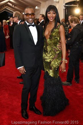 Lee Daniels and Naomi Campbell in Burberry Prorsum