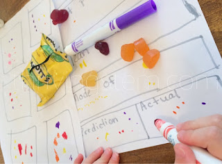 Have you ever stopped to notice if you are getting as many of your favorite flavors in your pack of candy?  Here's a fun project about just that.
