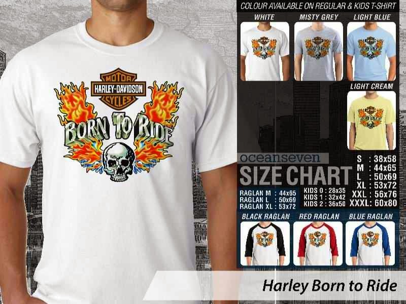 KAOS Harley Davidson 4 Logo Motor distro ocean seven