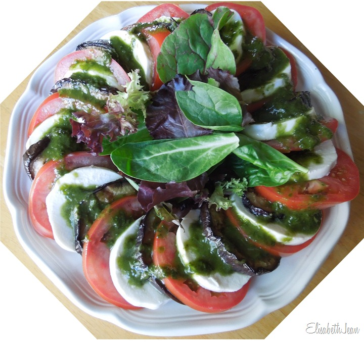 EJ-grilled eggplant caprese salad