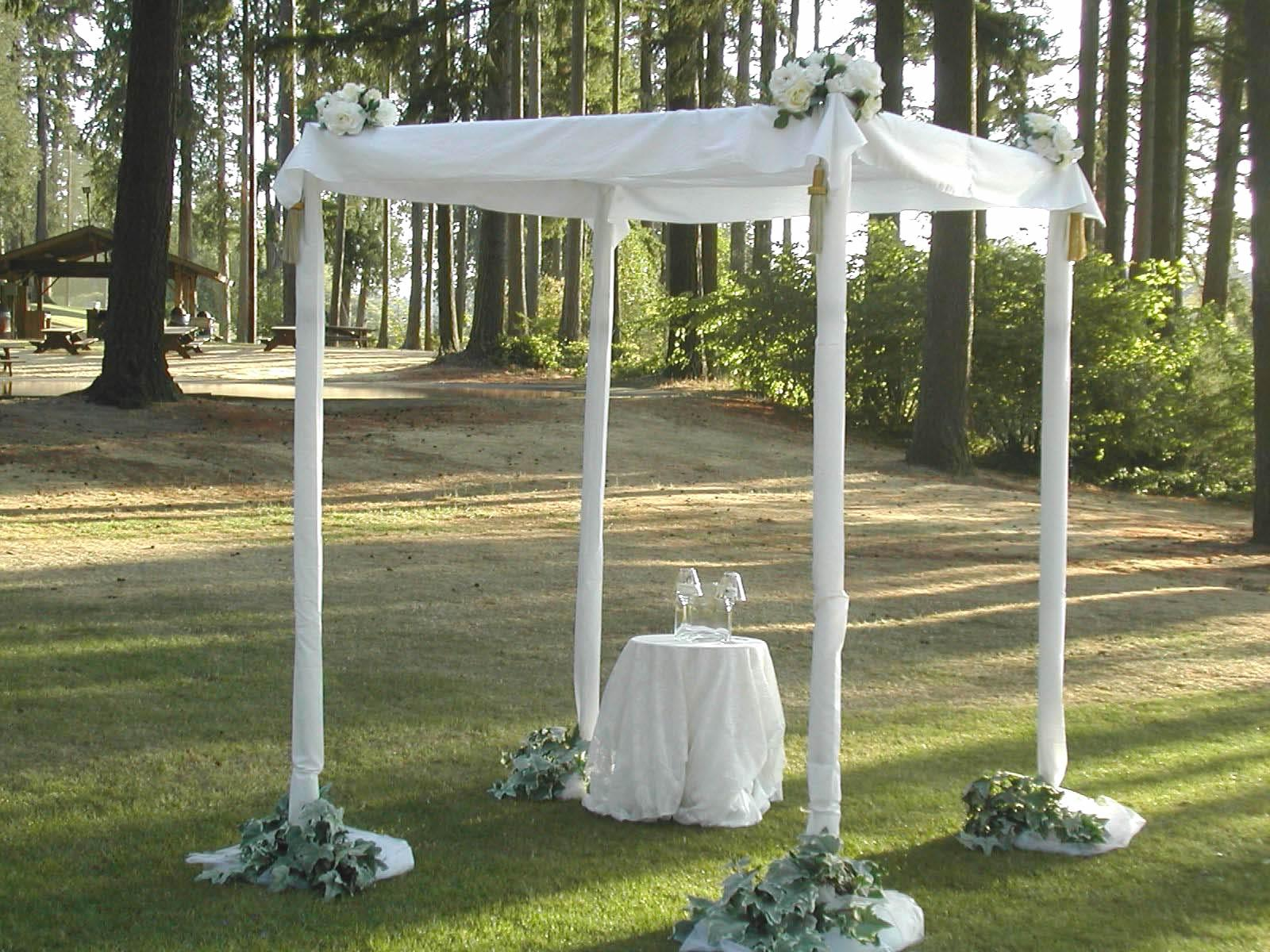 The chuppah is traditionally a