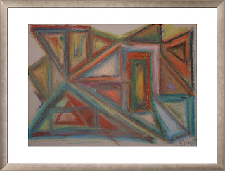 Fading shapes (oil pastels, 1997)