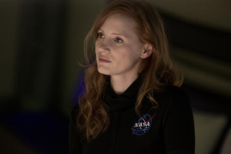 Jessica Chastain as Commander Lewis in The Martian