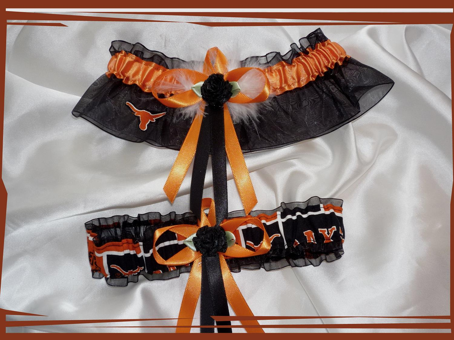Texas LONGHORNS Wedding Set