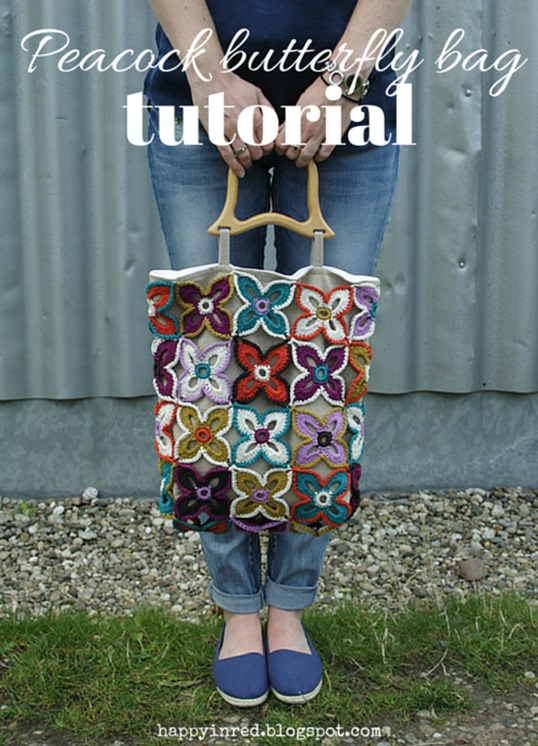Peacock butterfly bag, tutorial