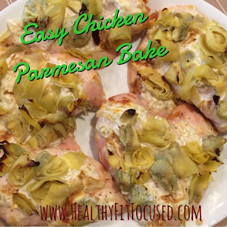 Clean Chicken Parmesan Bake, www.HealthyFitFocused.com, Julie Little