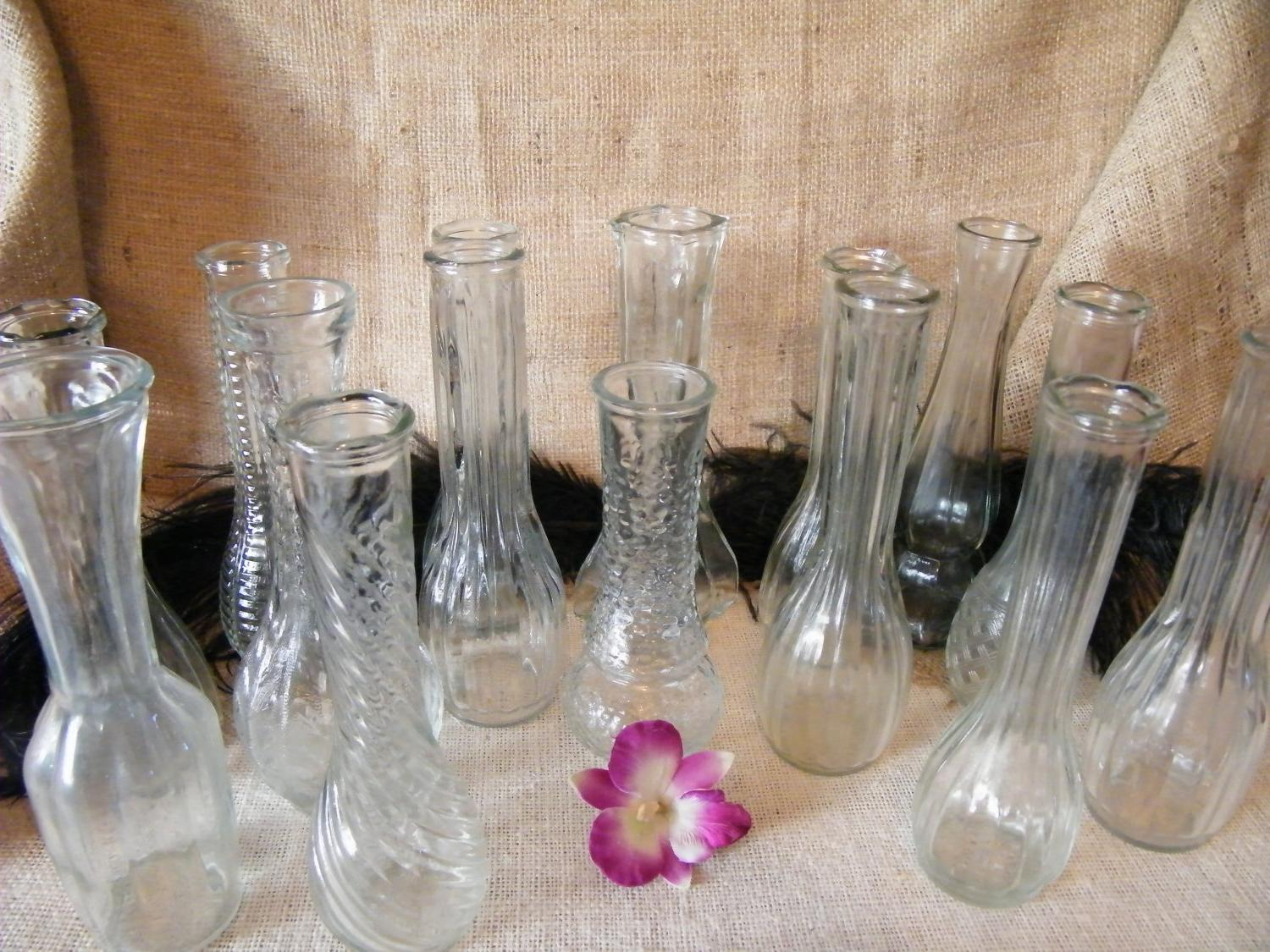 Set of 15 Clear Glass Assorted