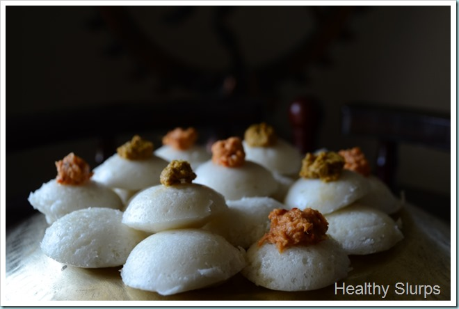 Mini idli served with love