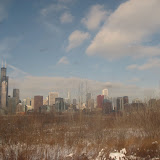 The Chicago skyline seen from the Amtrak window 01142012g