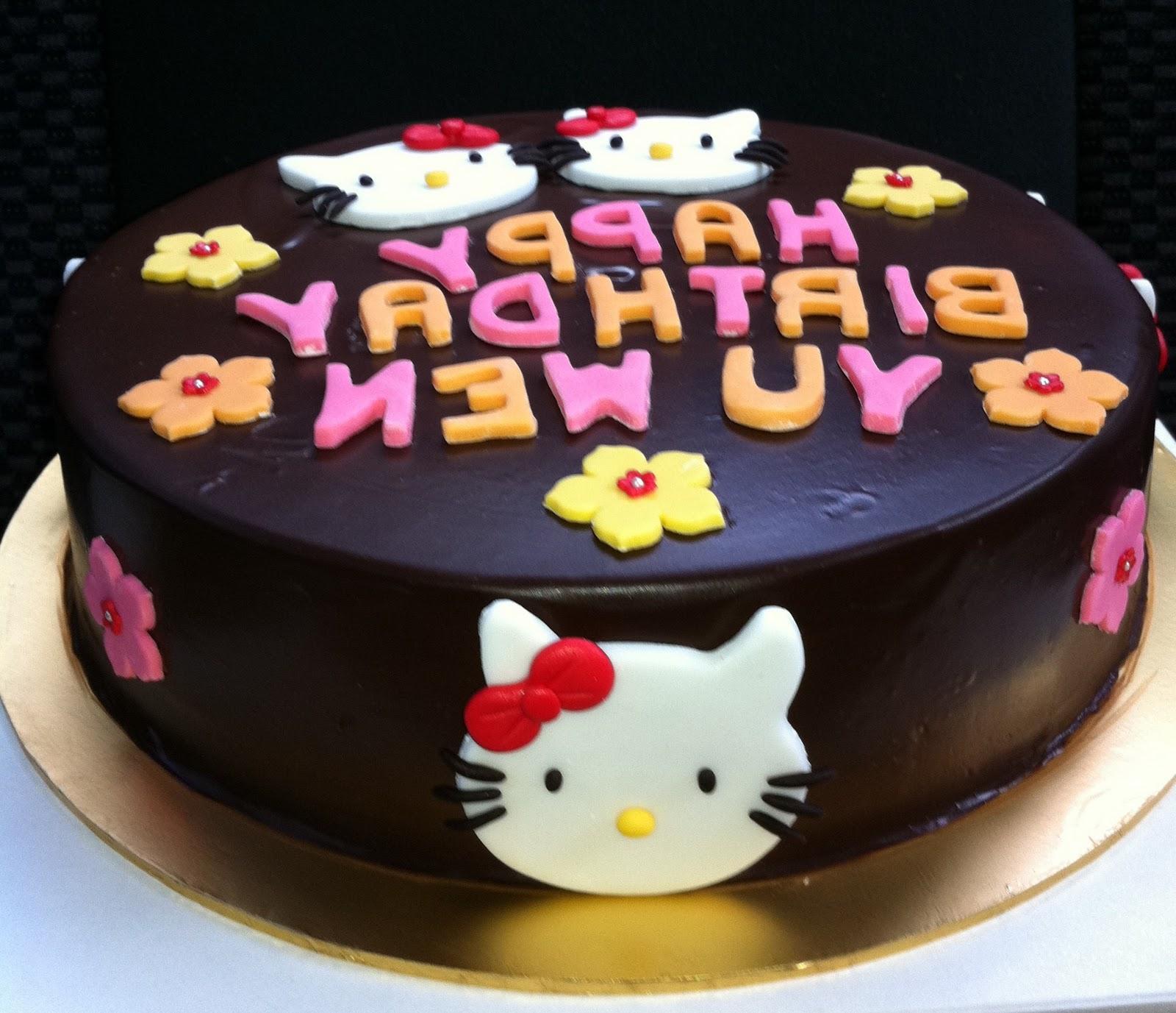 hello kitty wedding cake