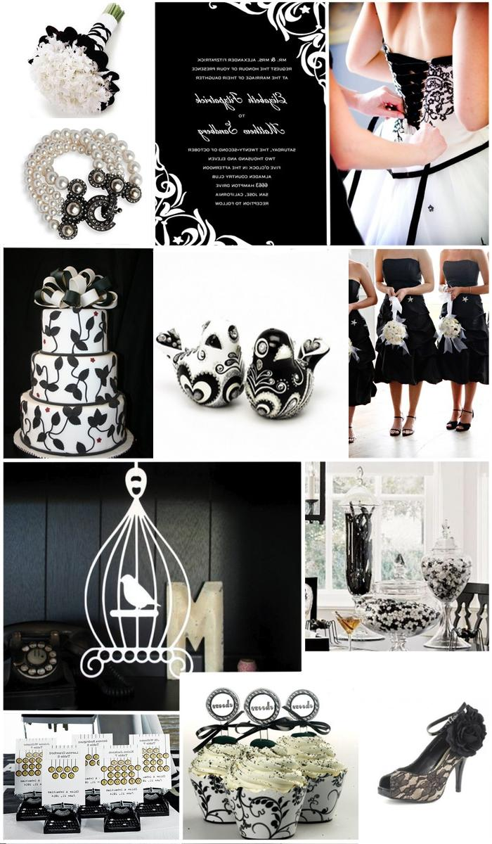 A black and white wedding: