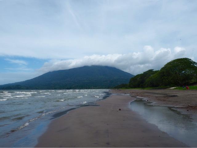 Santo Domingo beach & Maderas volcano on Ometepe Island, Nicaragua