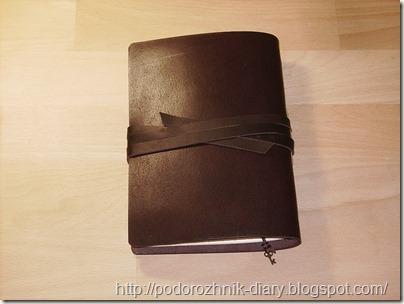 кожаный блокнот вид сзади