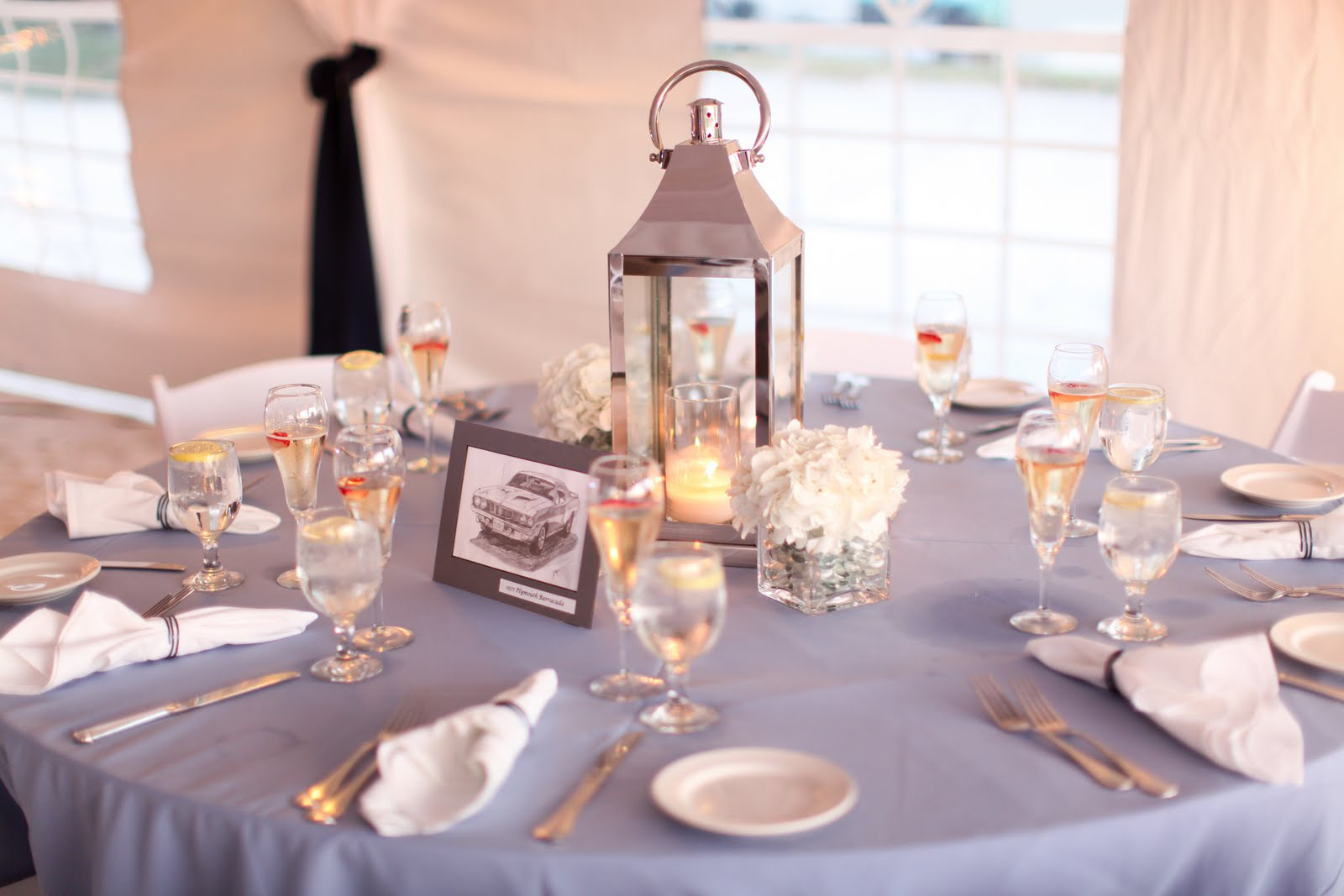 table centerpiece 50th