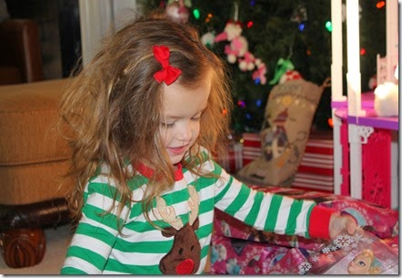 Zoey opening up Santa gifts6
