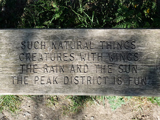 One of the many poems on a bench in the Peak District. This one is near Tideswell.