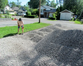 1507165 Jul 28 Barb Raking Gravel