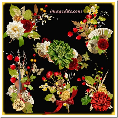 Japanese Flowers Clip Arts