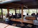 Inside the dining pavilion