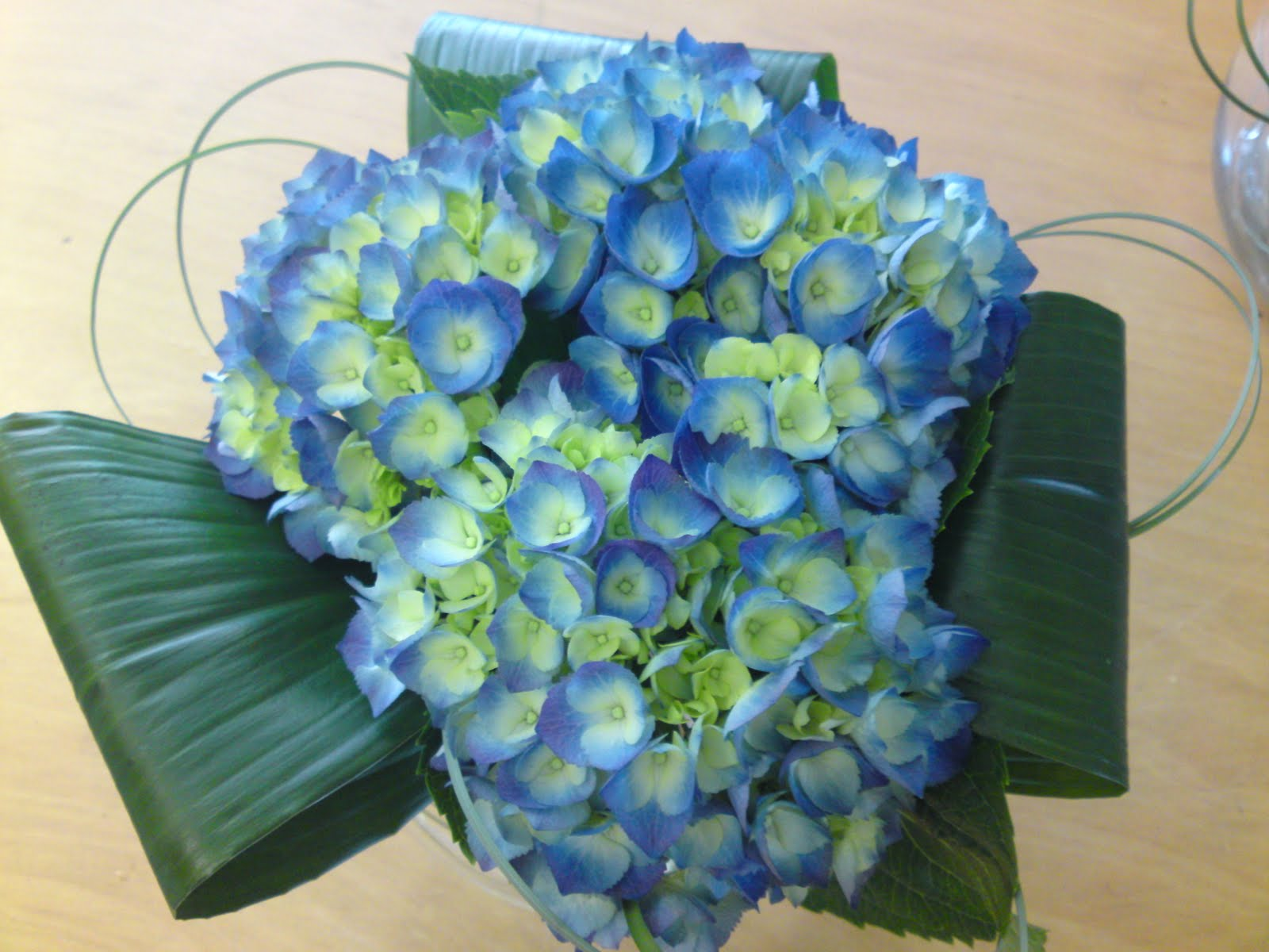 More blue themed flowers.