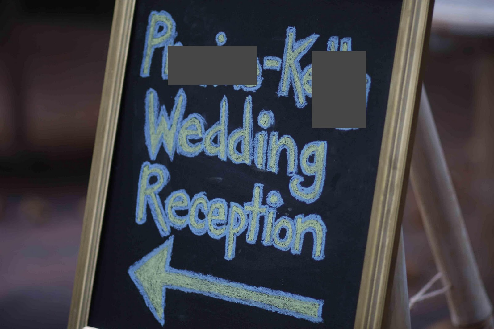 3 Hanging Chalkboard Wedding
