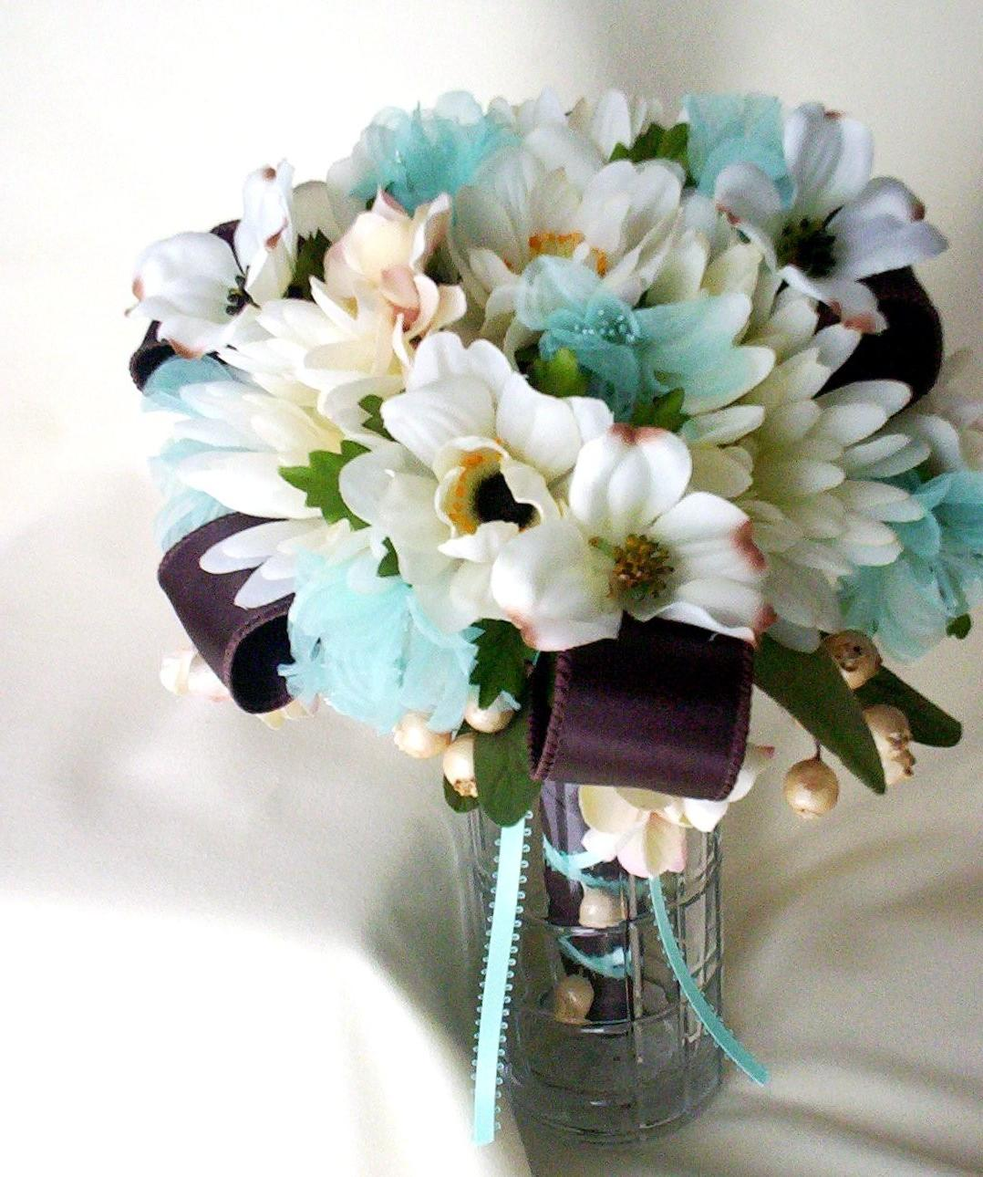 Beach Bridal Bouquet Aqua