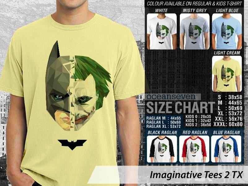 Kaos keren Imaginative Tees 2 Batman Joker distro ocean seven