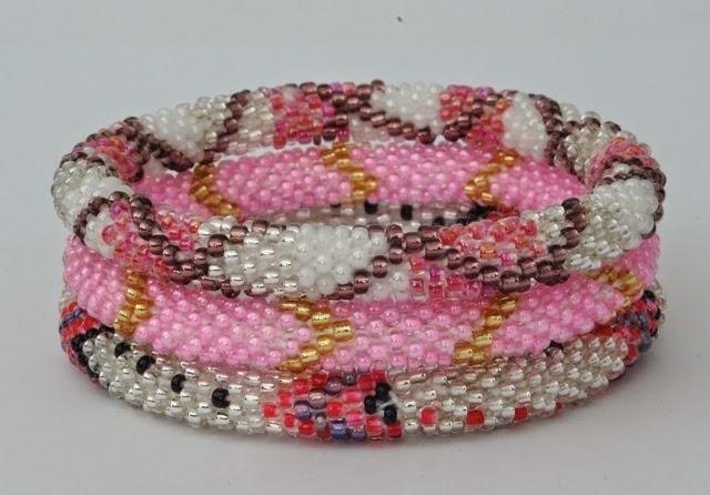 Bracelets Assorted pink white range