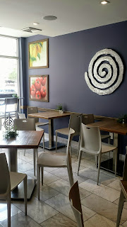 Eons Greek dining space