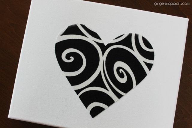 easy heart canvas