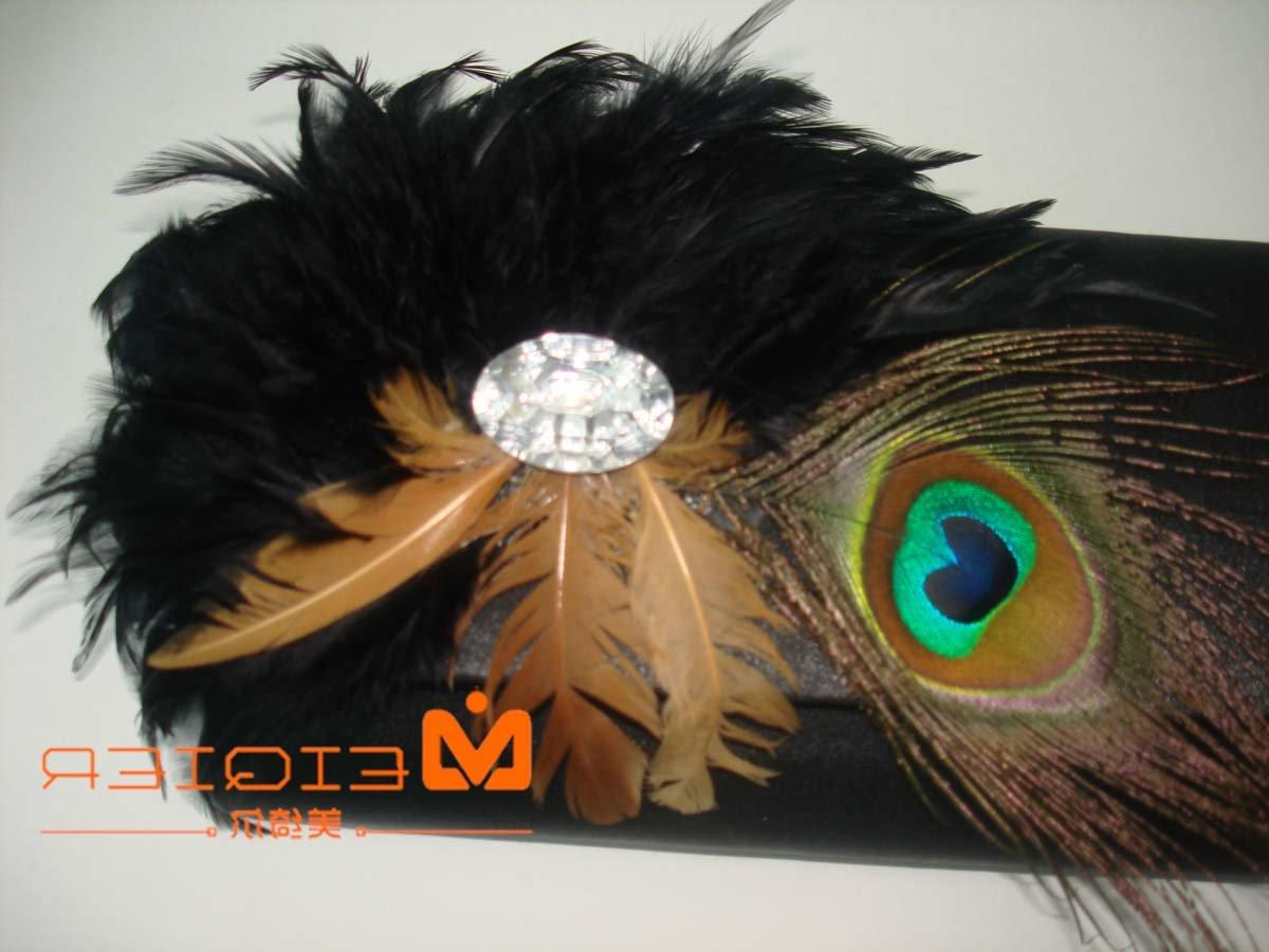 black wedding bag with factory price,peacock fan bag products,