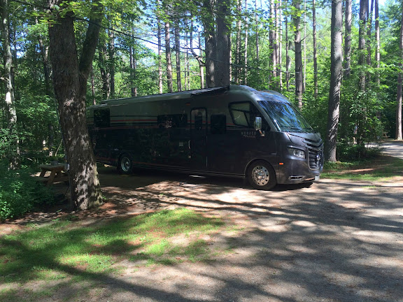Site #14 at the Desert of Maine Campground