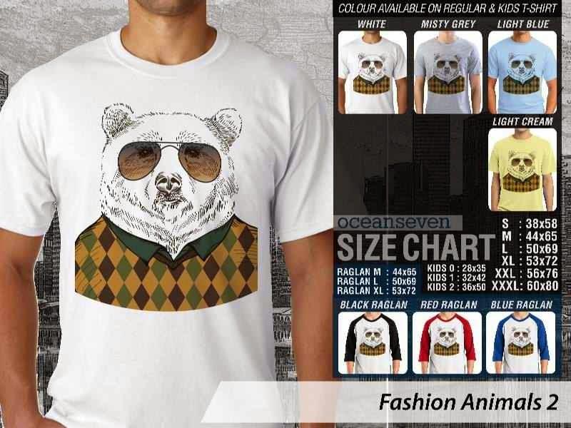 Kaos Fashion Animals 2 Binatang Anjing Dog distro ocean seven
