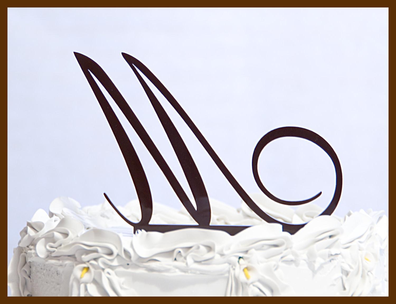 Weiwei s blog initials wedding cake toppers