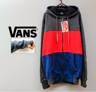 Jaket Vans Grey Red Navy
