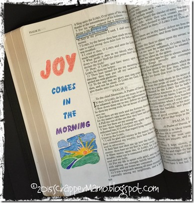 Bible Art Journaling Ps 30-5b Joy