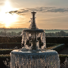 Frozen Fountain by Ian Flear - Artistic Objects Other Objects