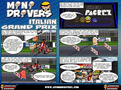 комикс MiniDrivers по гонке на Гран-при Италии 2014