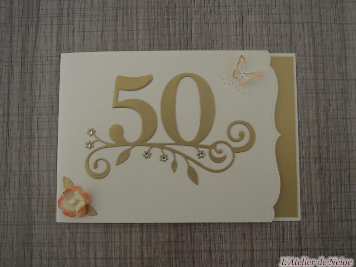 Edith et roland 2 juillet 2016 noces d 39 or 50 ans mariage l 39 atelier de neige - Cadeau 50 ans de mariage noces d or ...