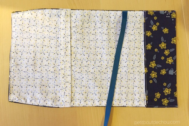 Japanese style adjustable book cover - finished